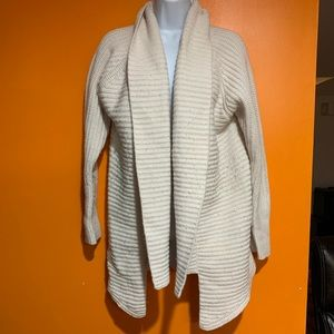 Express cream cardigan sweater size medium
